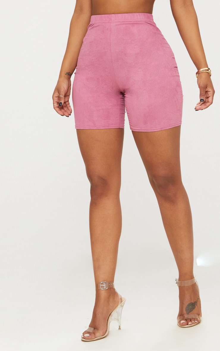 Shape Rose Faux Suede Cycling Shorts 2