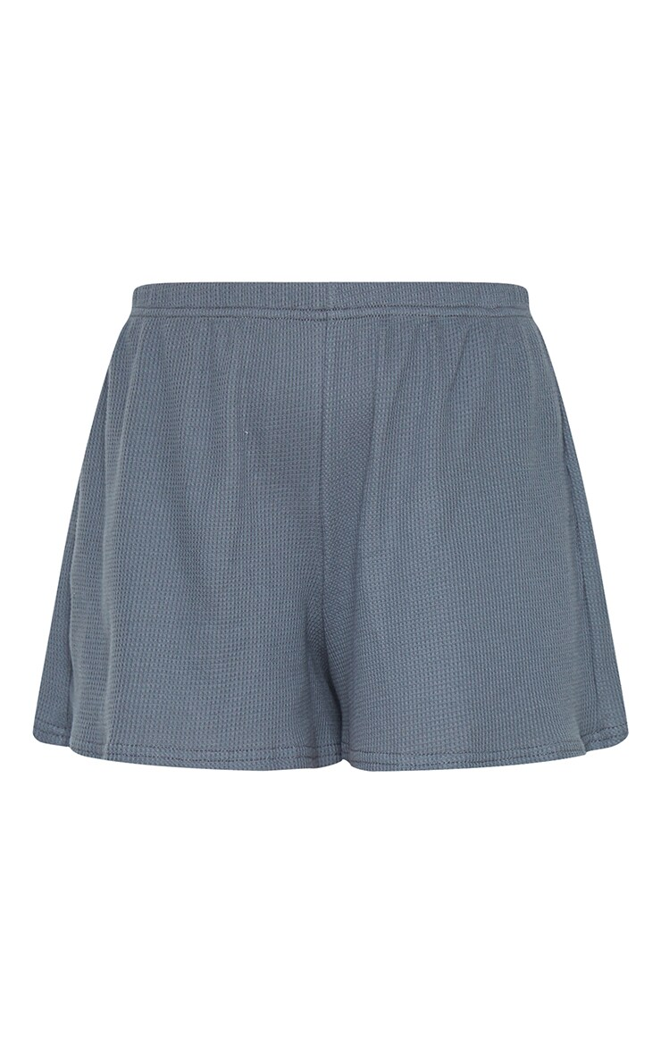 Grey Waffle Knit Shorts 6
