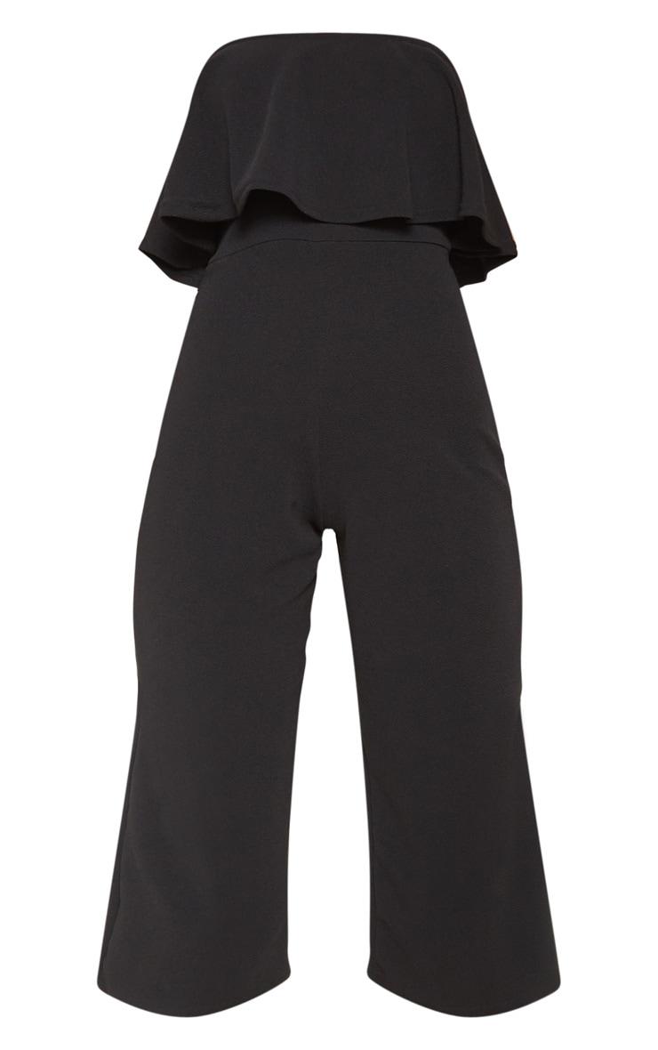 Combinaison jupe-culotte bardot double épaisseur noire 3