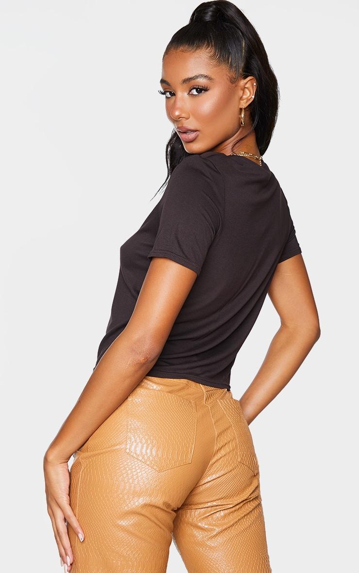 Chocolate Shoulder Pad T Shirt 2