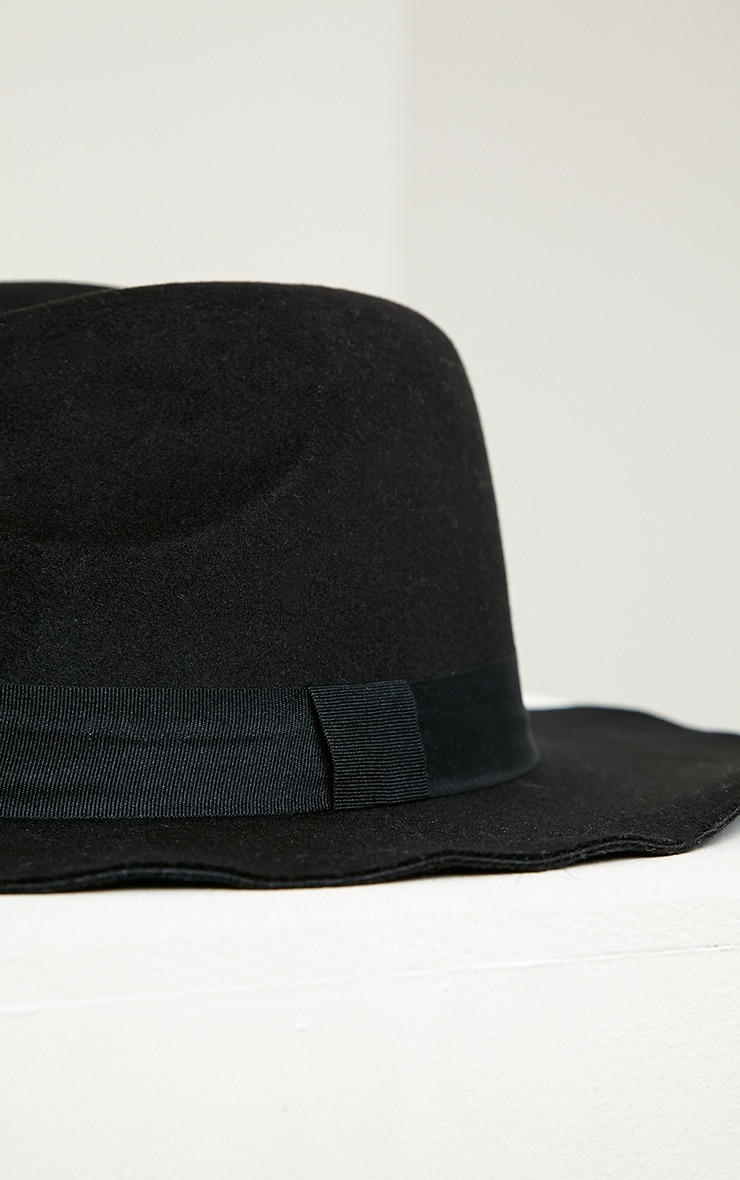 Meris Black Fedora Hat 3