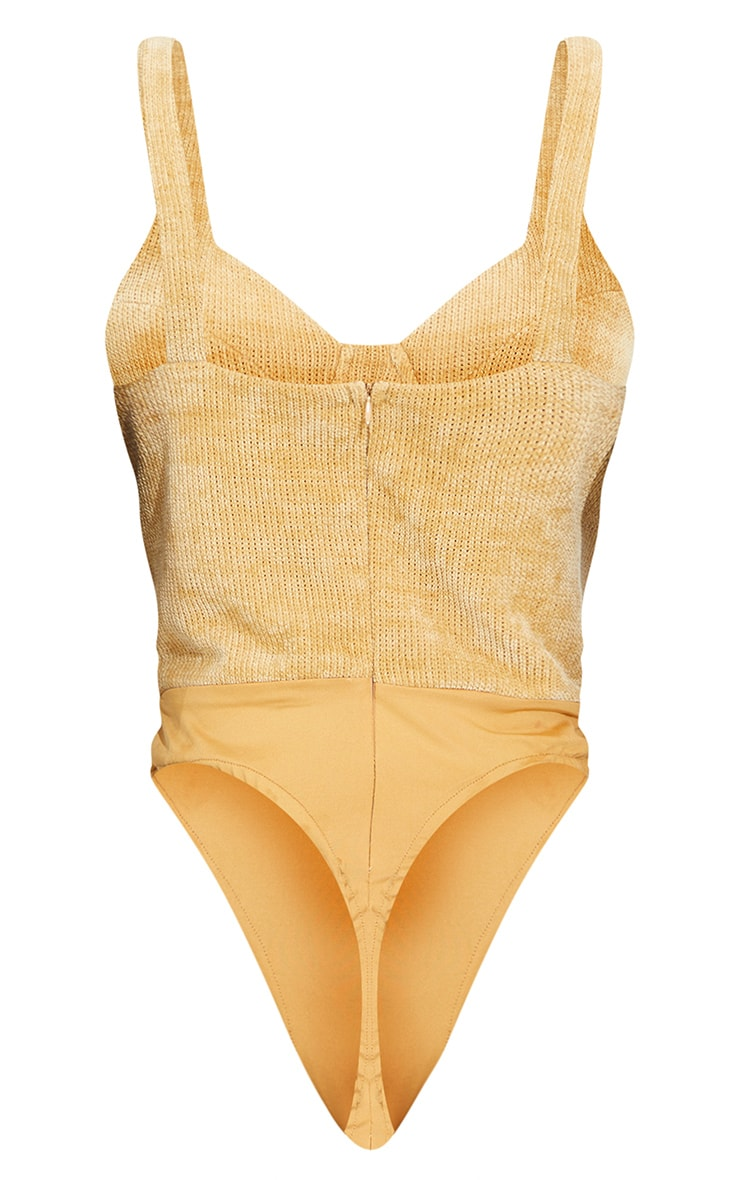 Tall Stone Chenille Cup Detail Bodysuit 6