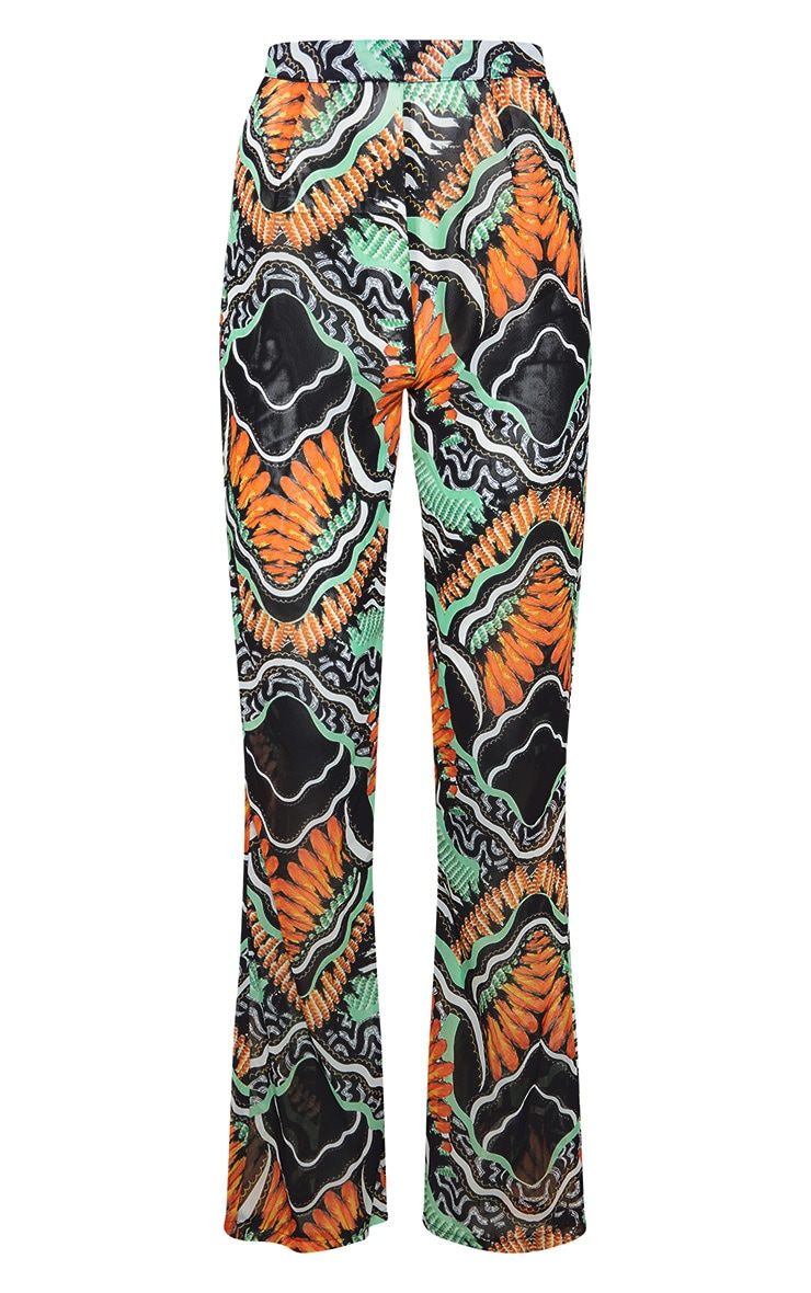 Black Tribal Print Beach Flares 3
