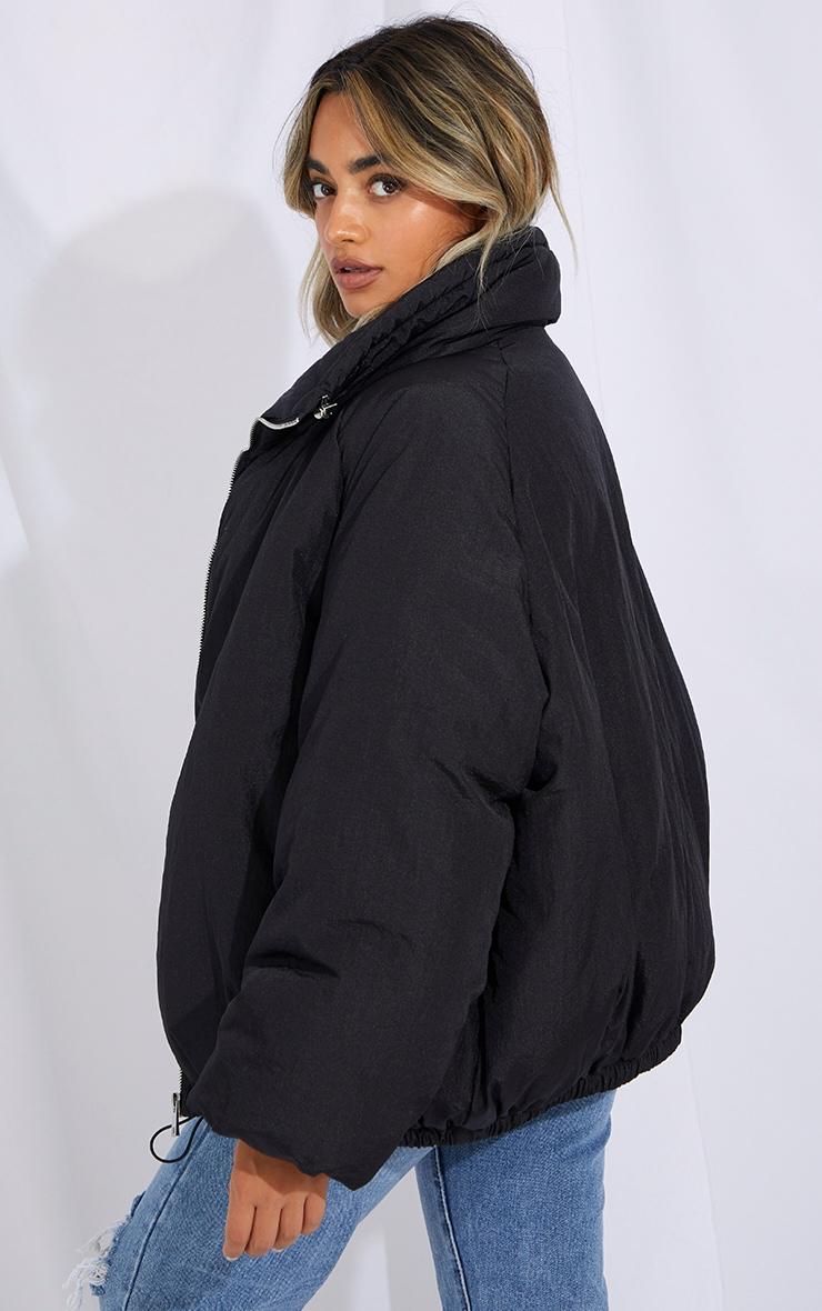 Petite Black Extreme Oversized Puffer Jacket 2