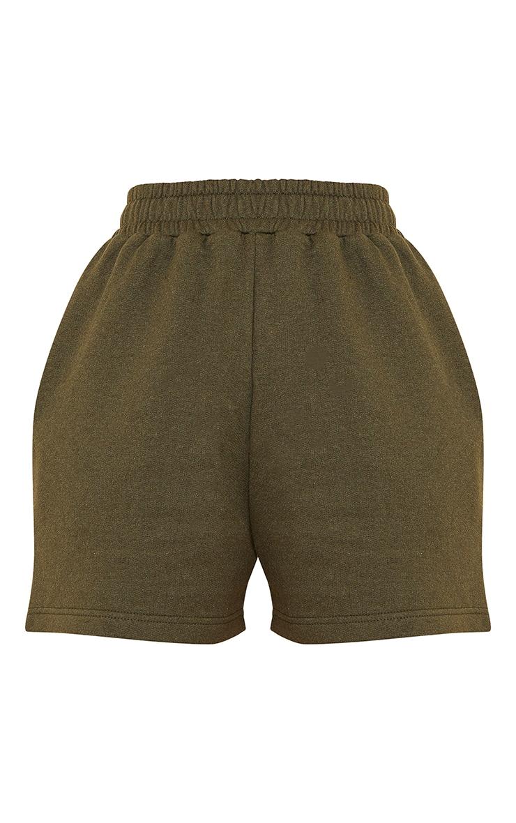 Khaki Sweat Pocket Shorts 6
