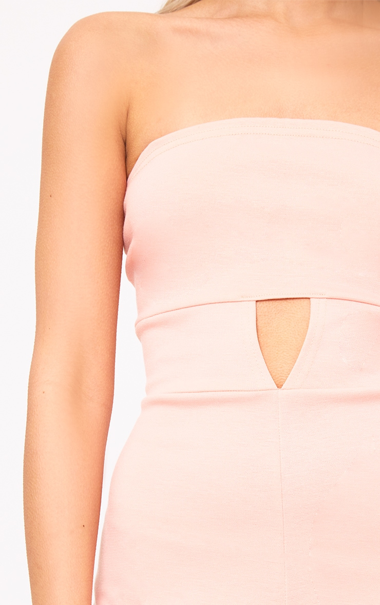Baby Pink Bandeau Open Middle Playsuit  4