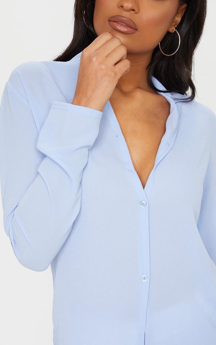 Baby Blue Chiffon Shirt 4