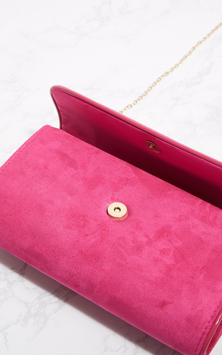 Pink Fold Over Cross Body Bag 4