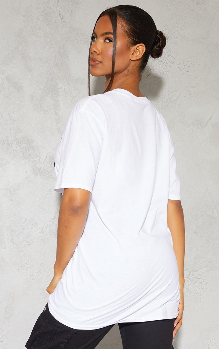 White Tupac Portrait Print T Shirt 2