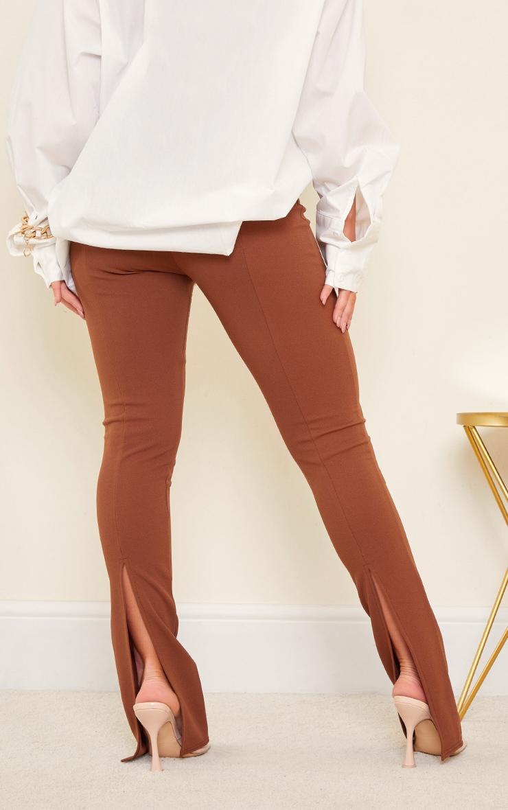 Chocolate Back Split Hem Skinny Trousers 3