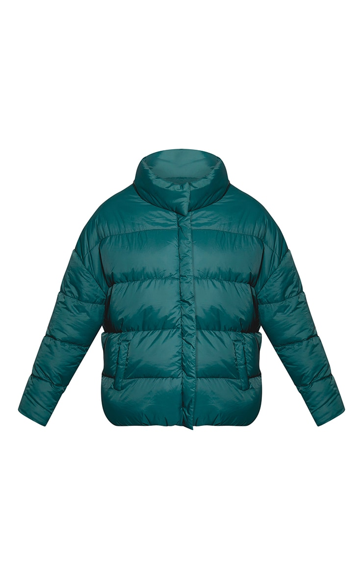 Forest Green Oversized Boyfriend Puffer 3