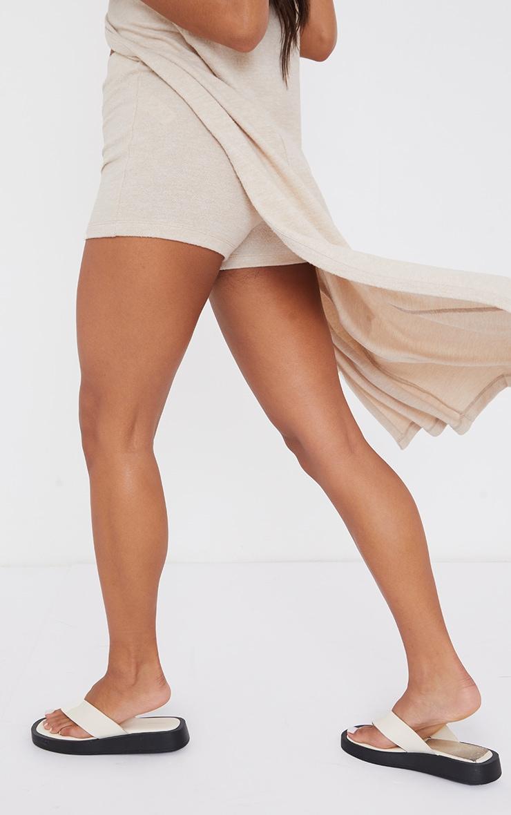 Beige Soft Touch Hot Pants 3