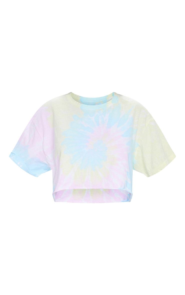 Multi Tie Dye Cropped T Shirt 5
