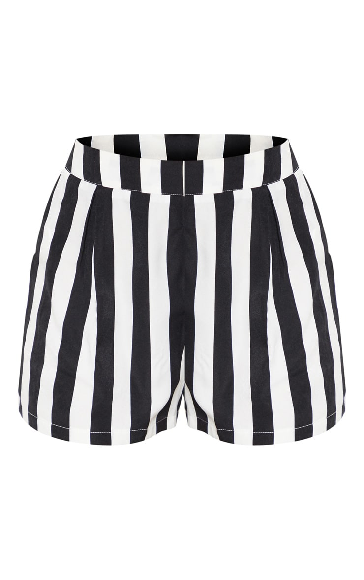 Black Stripe High Waisted Short 3
