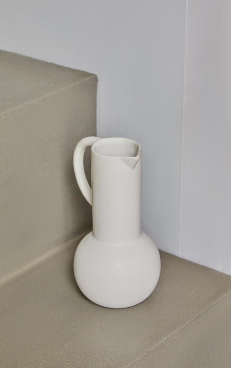 White Large Amphora Jug Vase 1