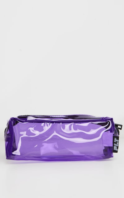 Purple Soft Plastic Chunky Zip Pencil Case