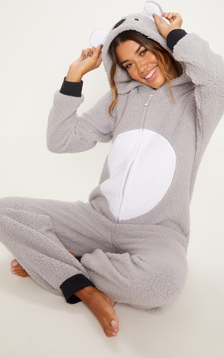 Koala Bear Grey Onesie 1
