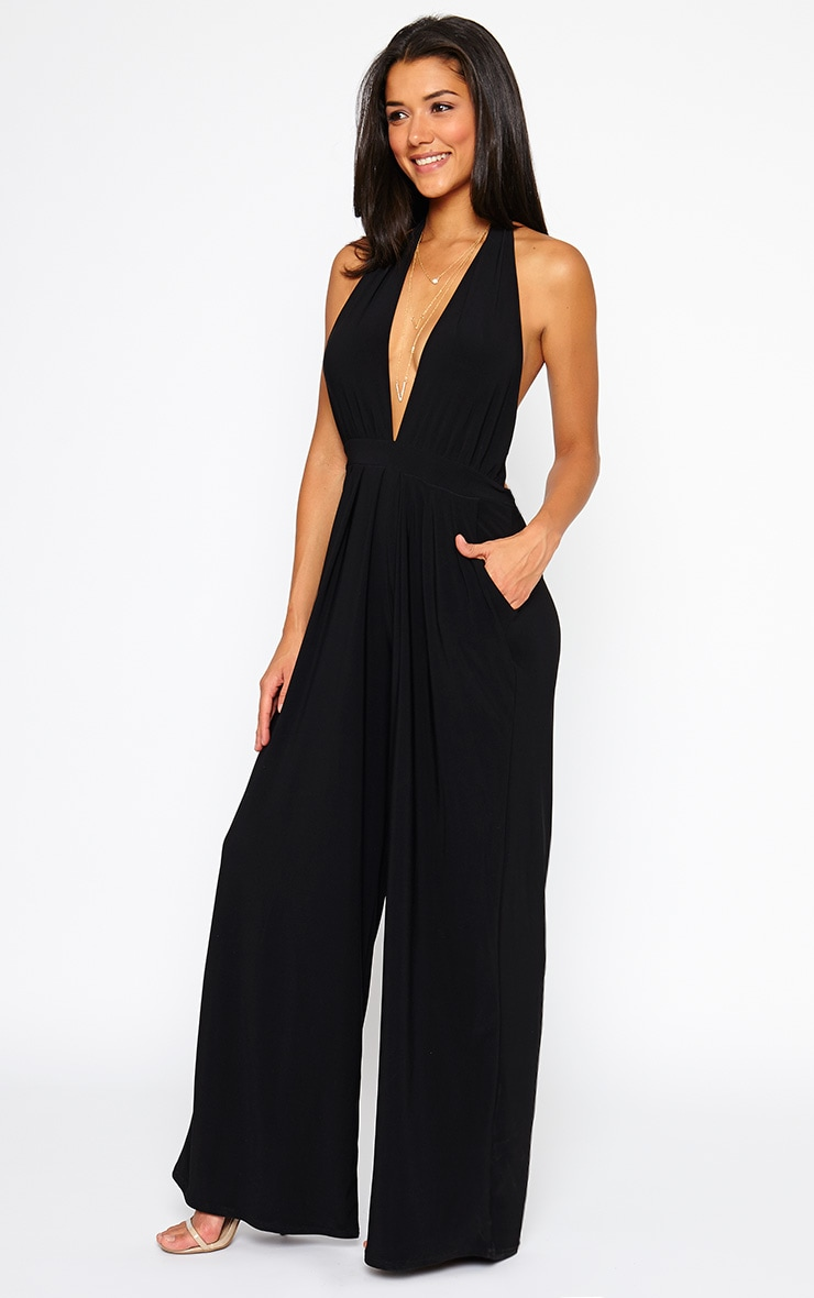 Vicki Black Halter Neck Jumpsuit 5