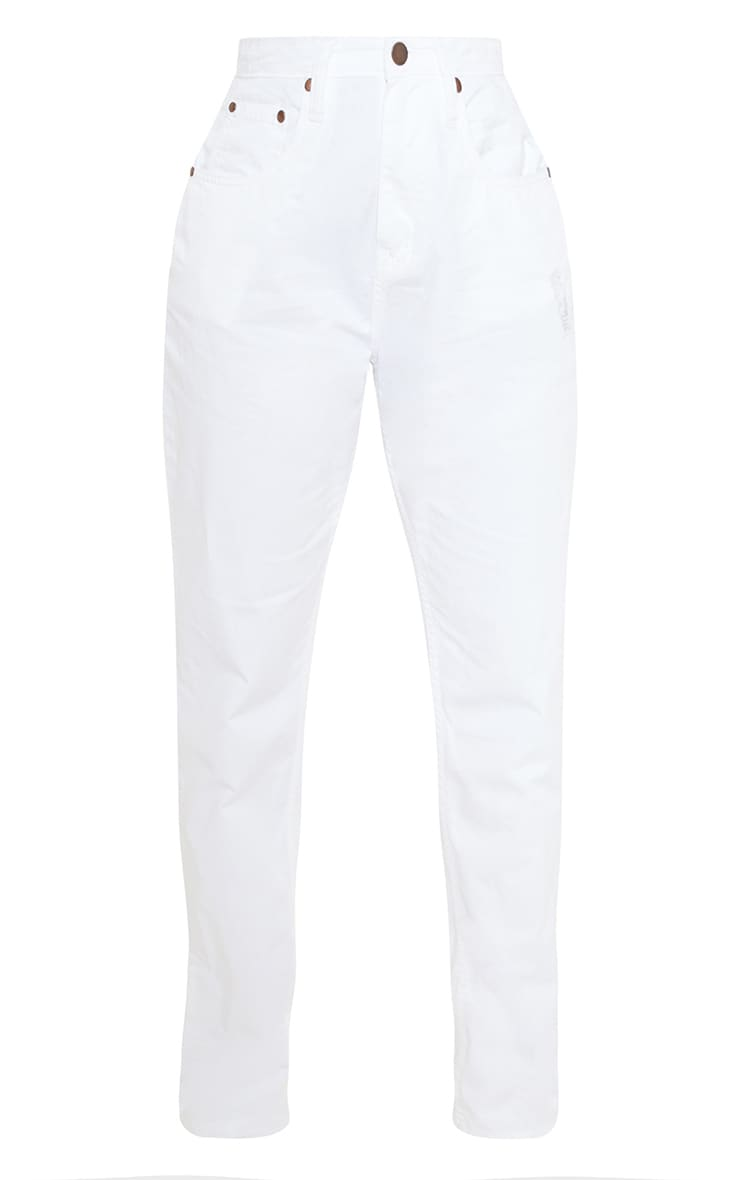 White High Waist Balloon Fit Jeans 3