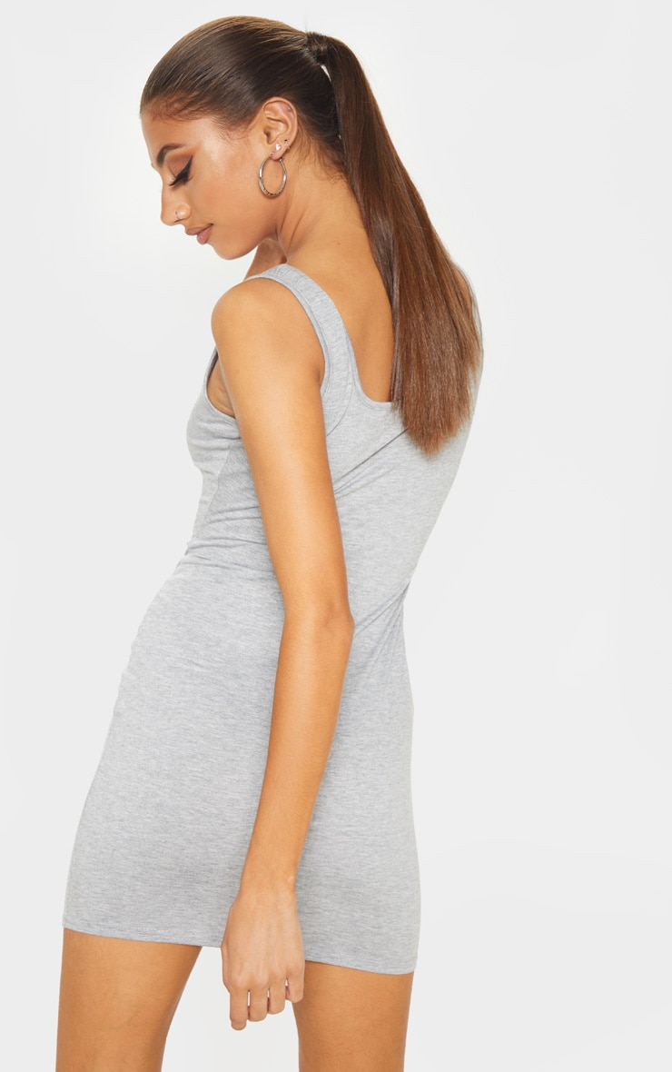 Tall Grey Square Neck Mini Dress 2
