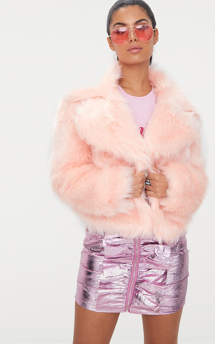 Baby Pink Faux Fur Jacket 2