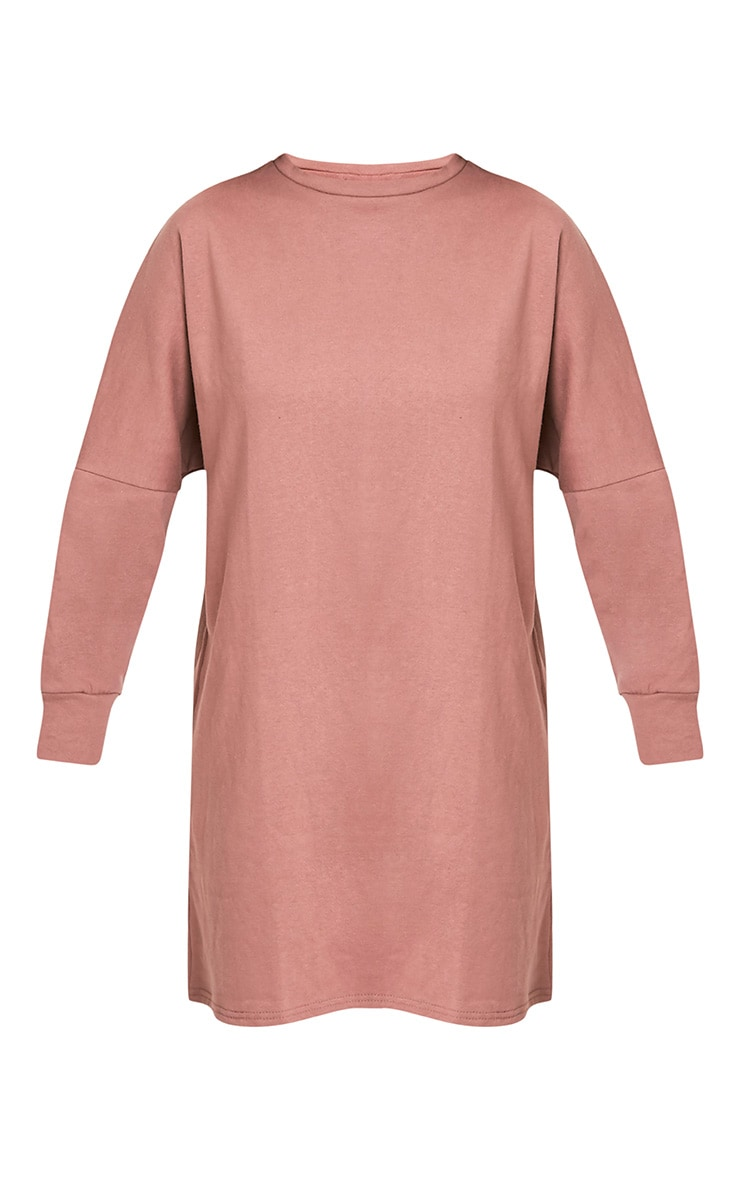 Laine robe sweat surdimensionnée mauve foncé 3