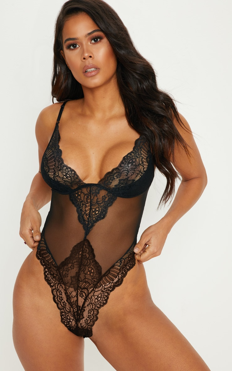 Black Scallop Lace Body 1