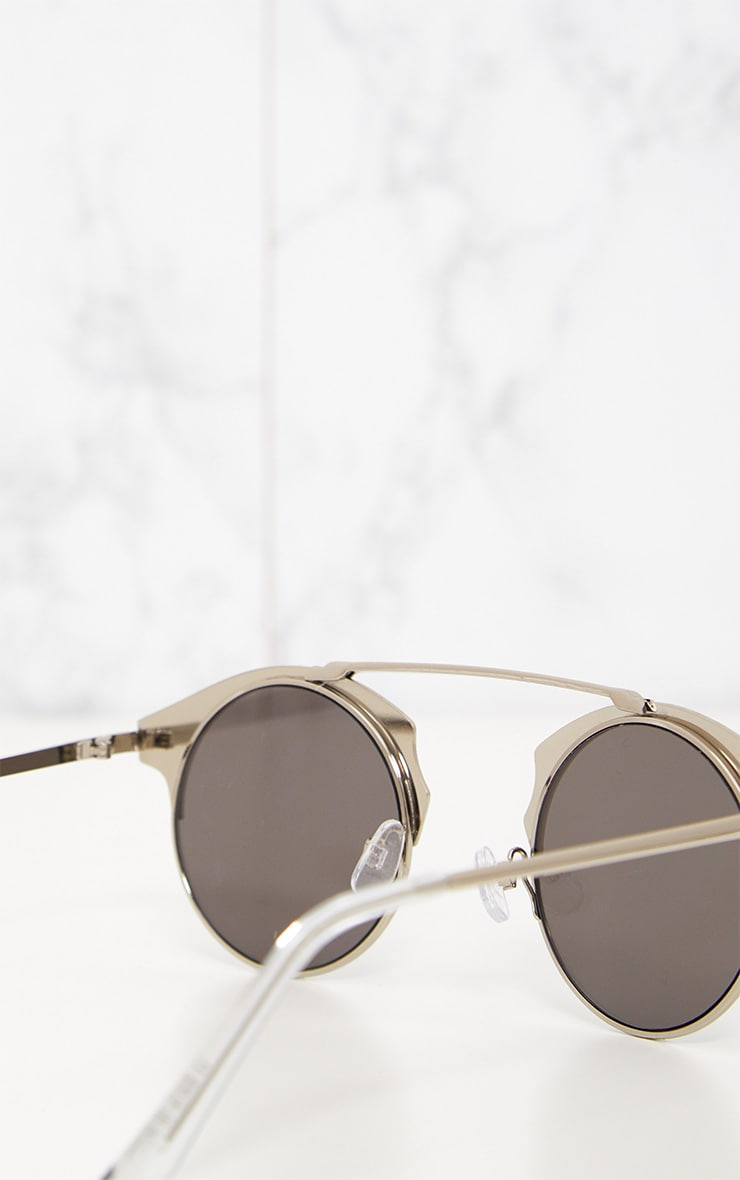 Silver Curved Top Bar Sunglasses 6