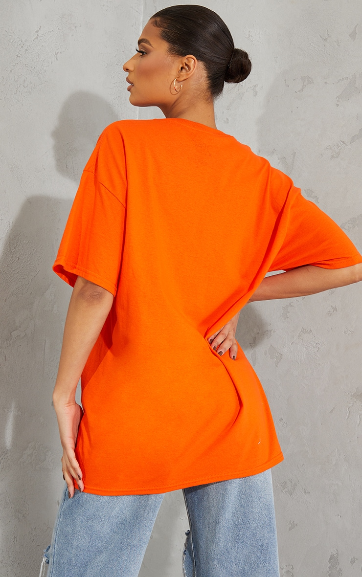 Orange Tupac Portrait Print T Shirt 2