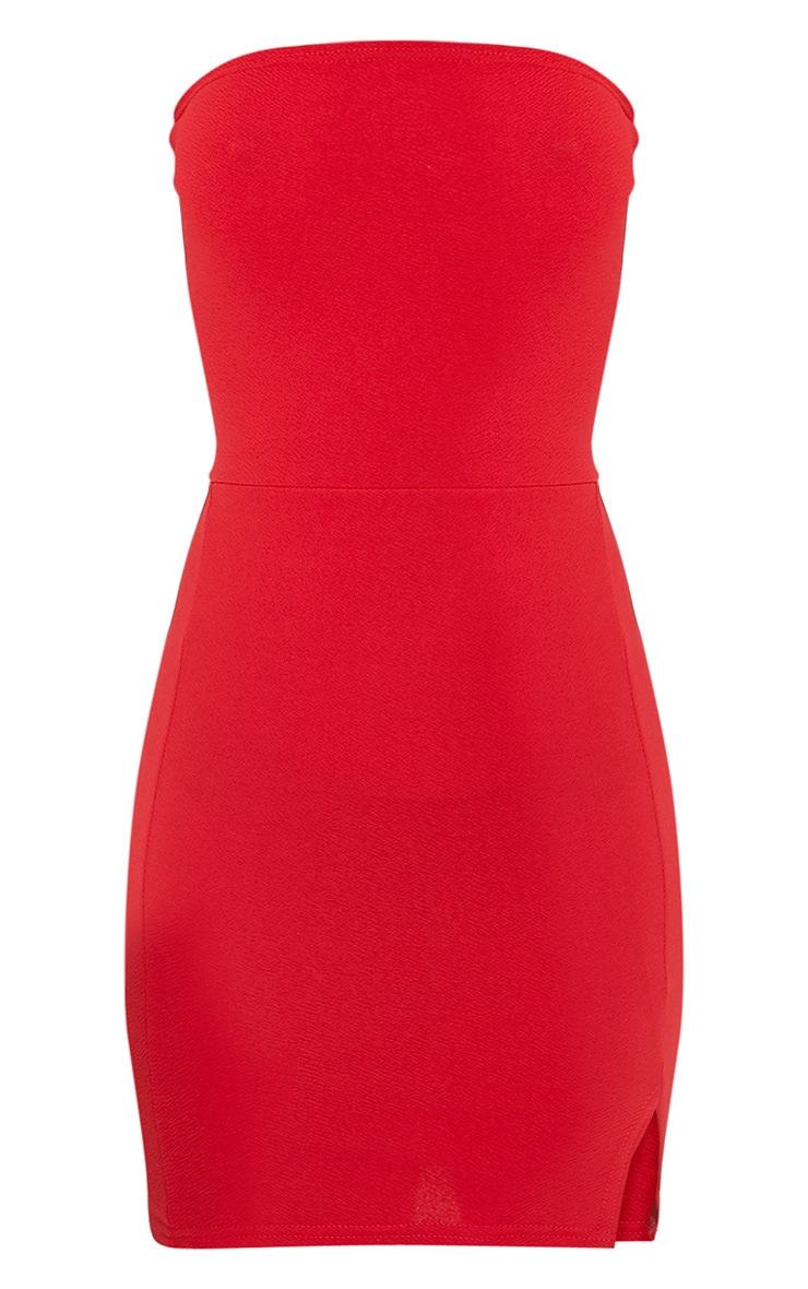 Layala robe moulante bandeau détail fente rouge 3