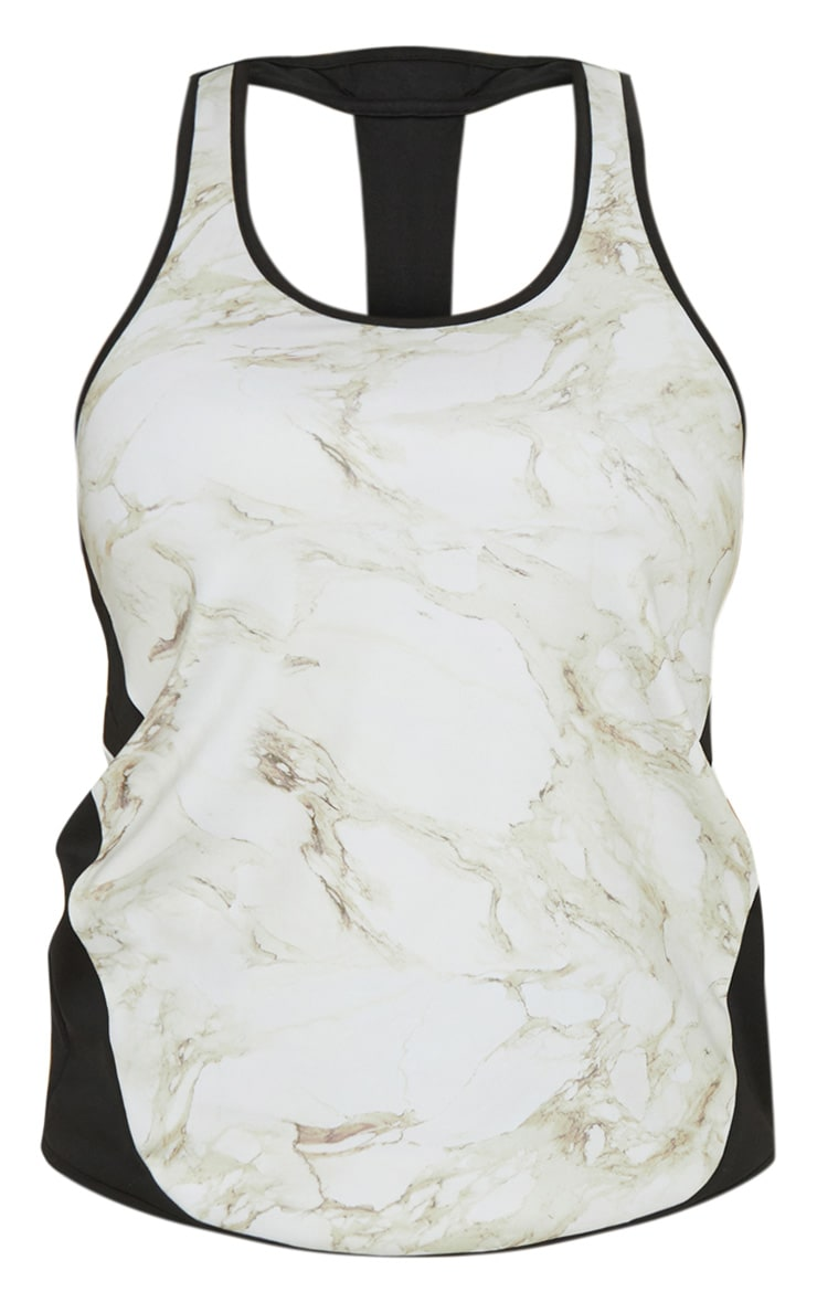 Marble Backless Gym Vest Top 3