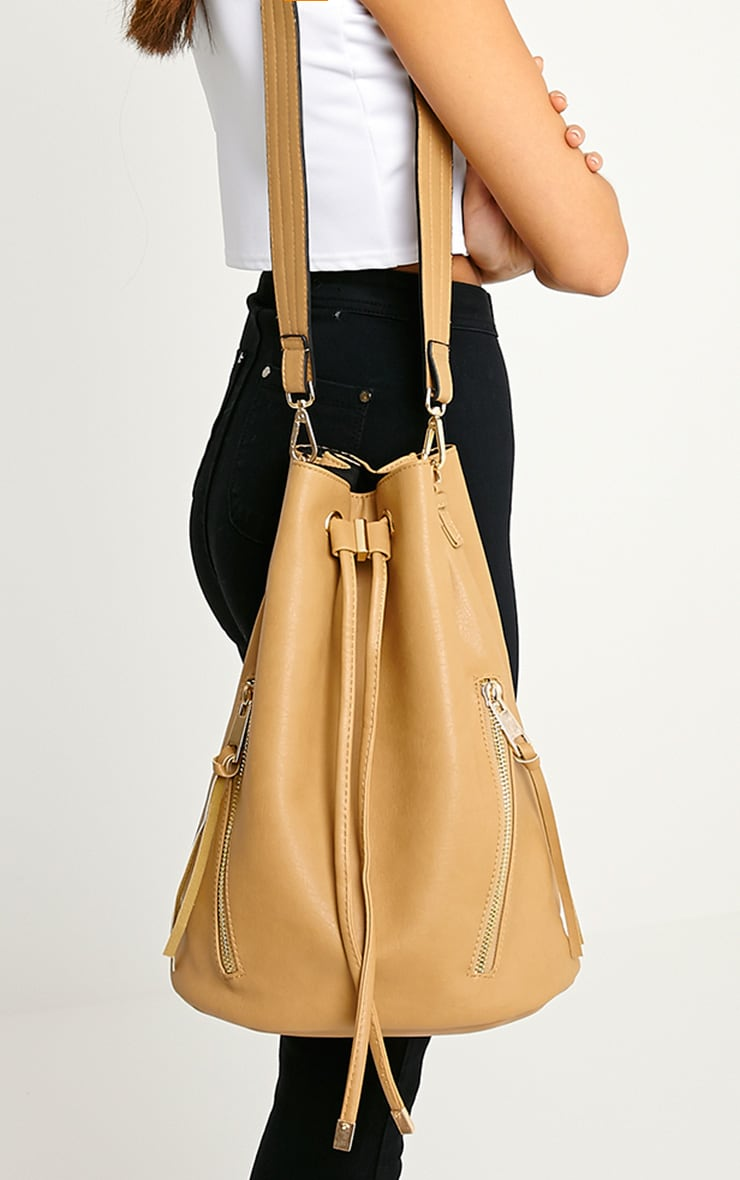 Annalisa Taupe Large Bucket Bag 1