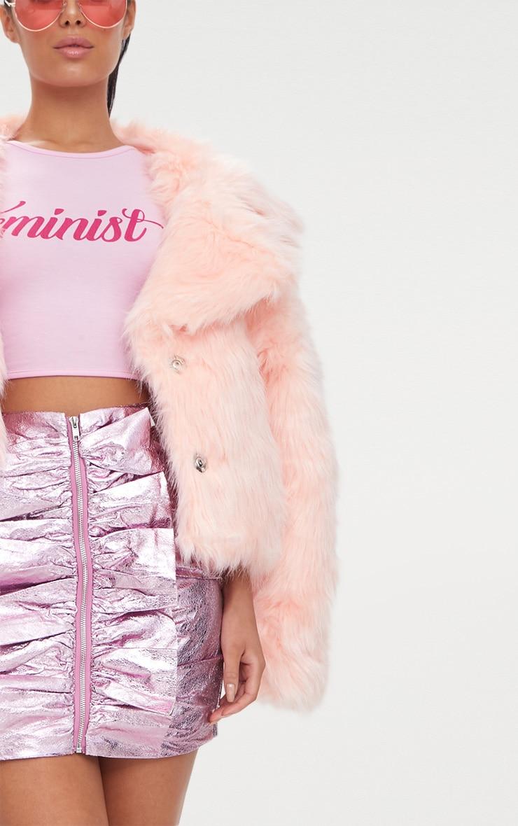 Baby Pink Faux Fur Jacket 6