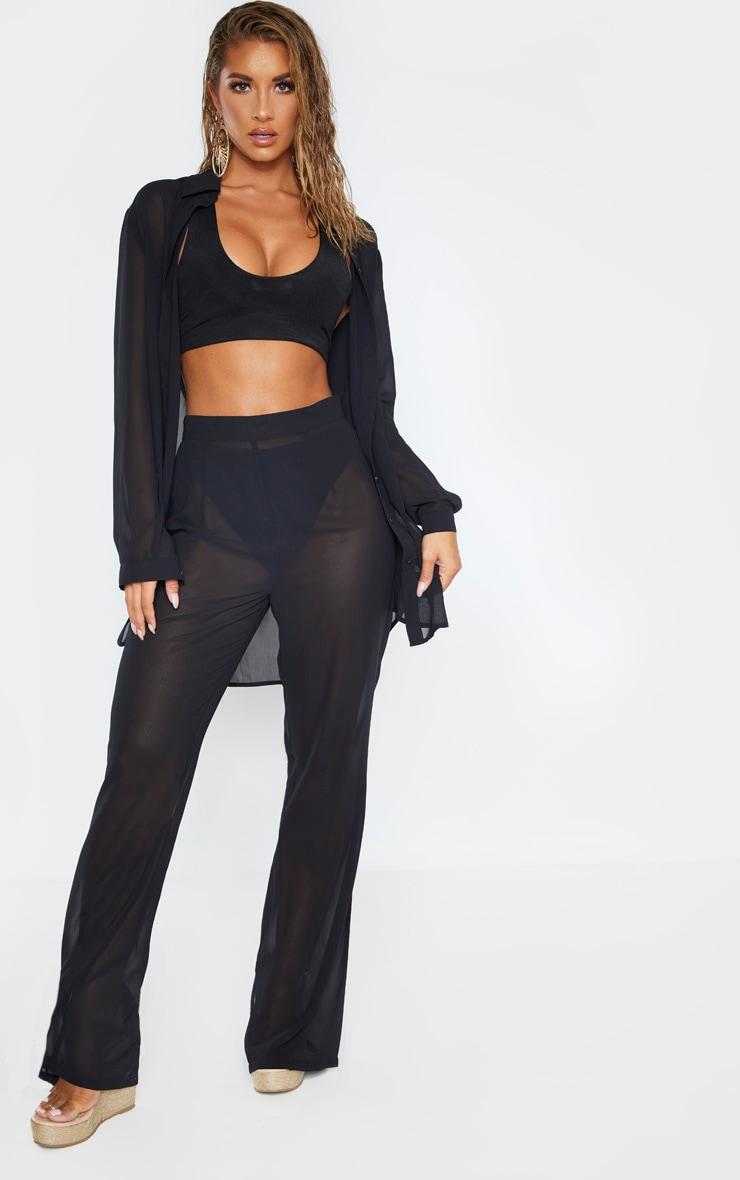 Black Beach Pants 1