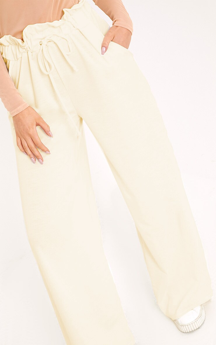 Jessey Cream Paperbag Wide Leg Trousers  6