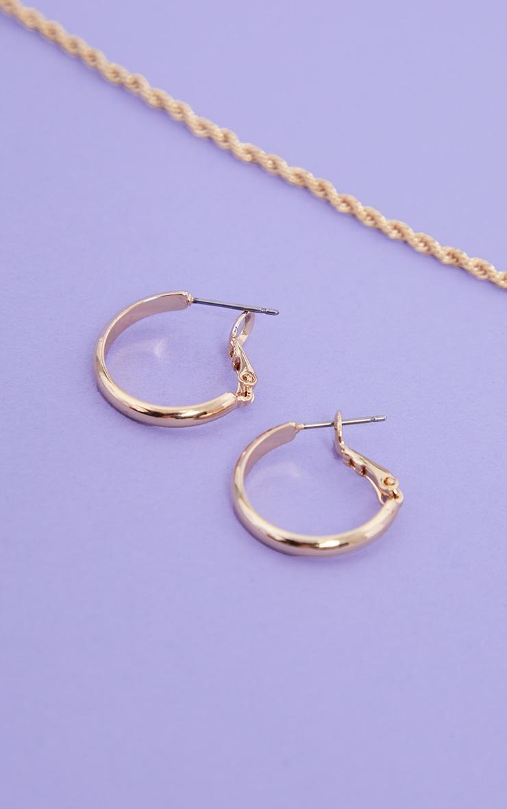 Gold Small Hoop Earrings  1