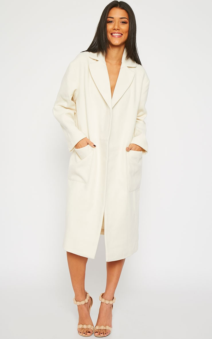 Trisha Cream Long Coat 4