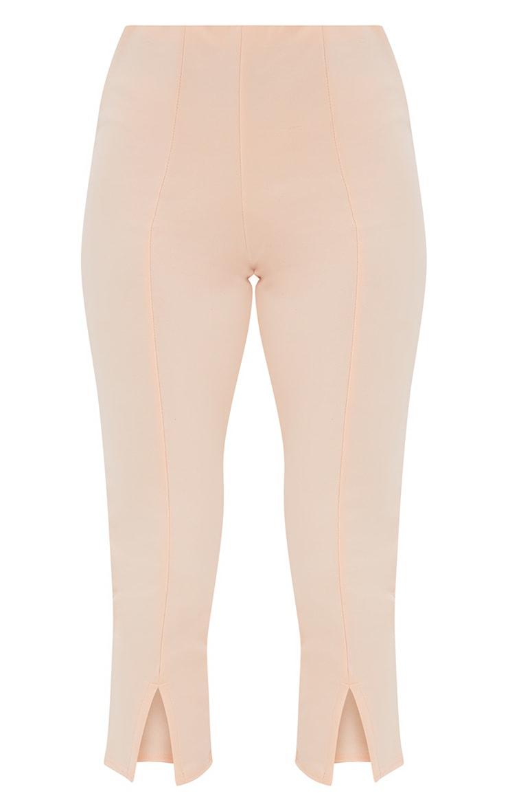 Petite Nude Split Hem Trousers 3