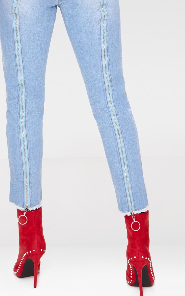 Light Wash Zip Back Jeans 5