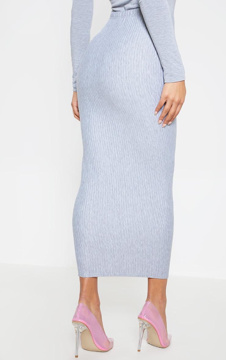 Grey Jumbo Rib Midaxi Skirt 5