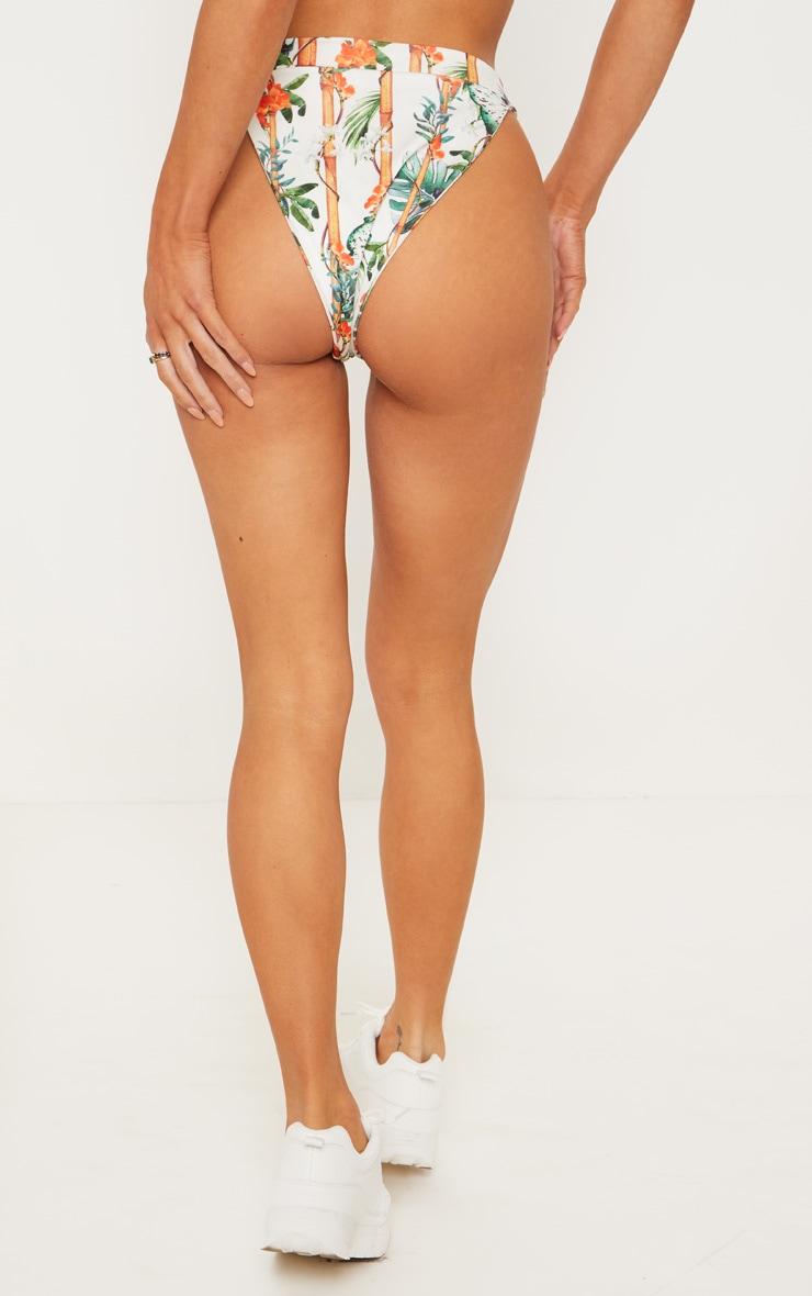 Orange Bamboo Button Down Bikini Bottom 5