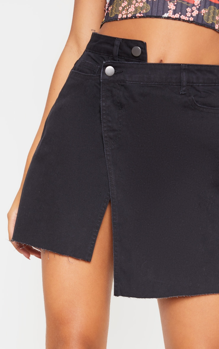 Jupe en jean noir asymétrique 6