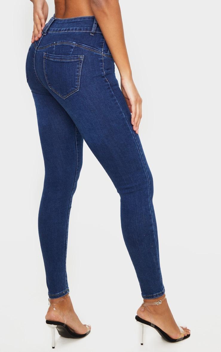 Dark Wash Bum Shape Skinny Jeans 3
