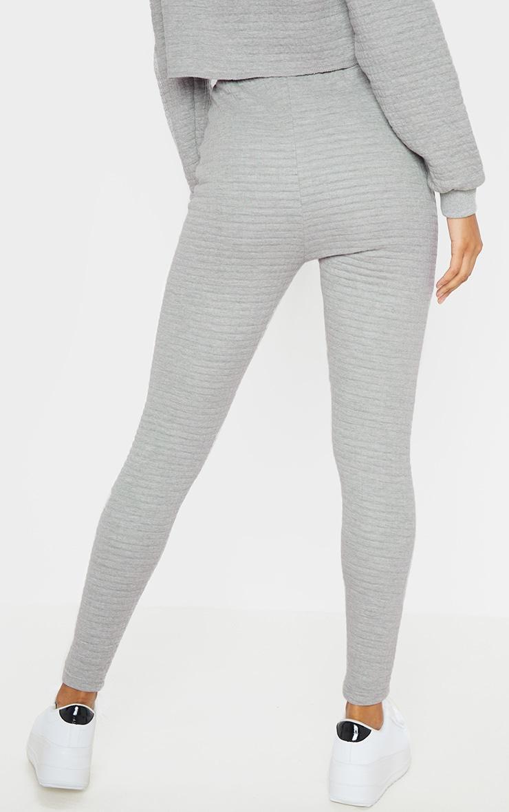 Legging gris matelassé à taille haute 4