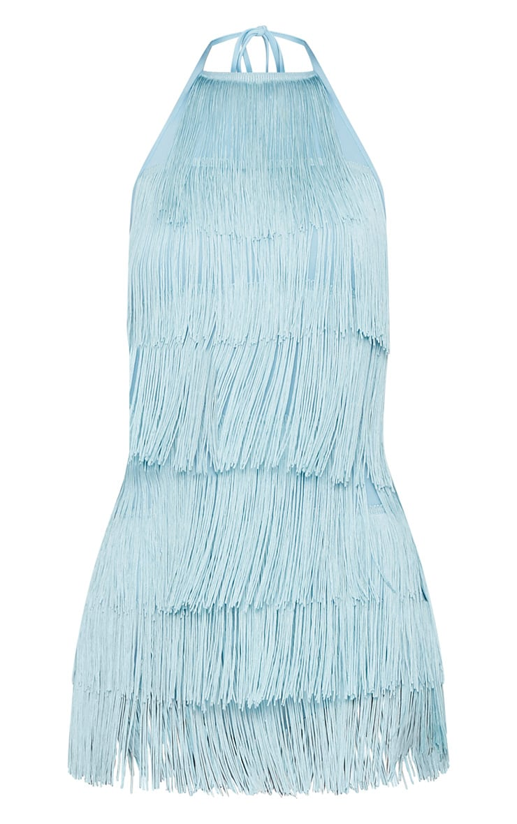 Powder Blue Tassel Playsuit 3