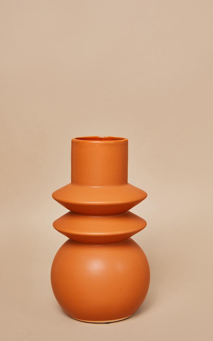 Terracotta Angled Totem Vase 3