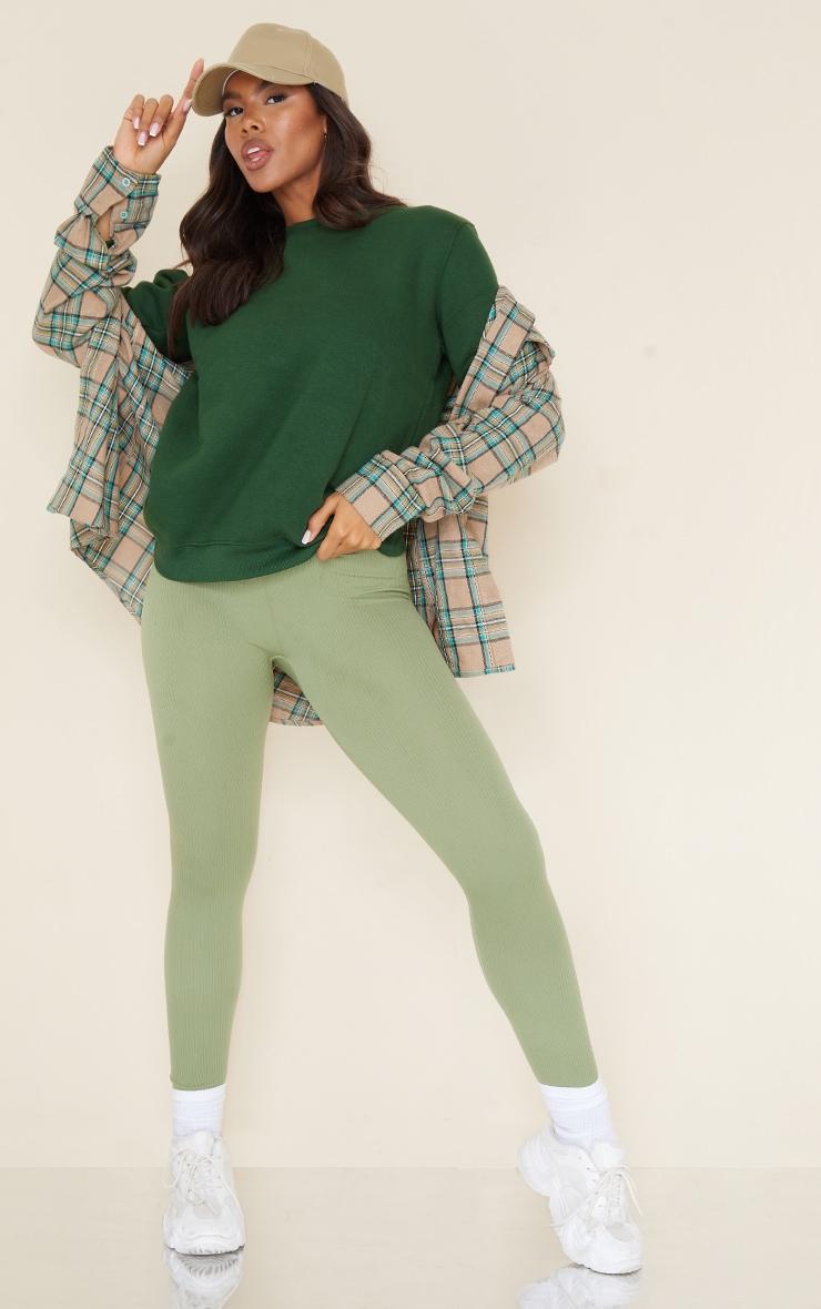 Recycled Dark Green Oversized Sweatshirt 6