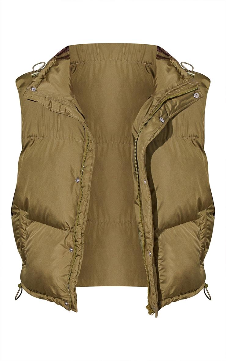 RENEW Tall Khaki Toggle Detail Gilet 5