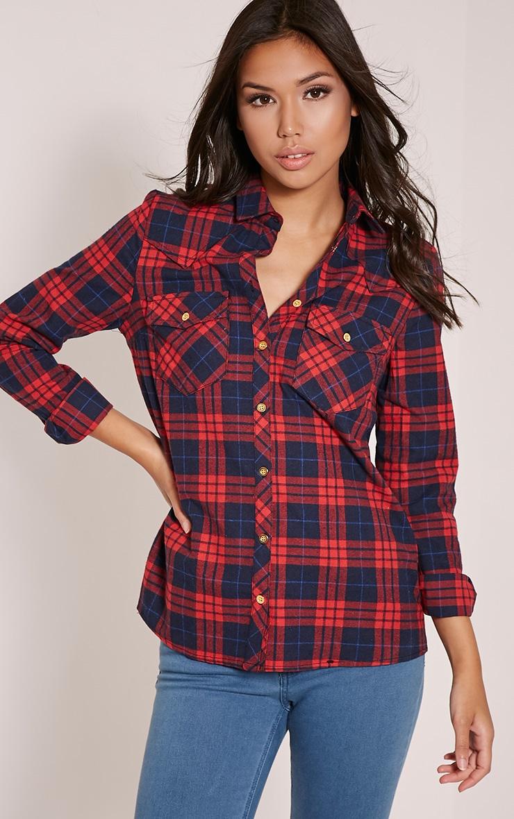 Rosanna Red Checked Shirt 1