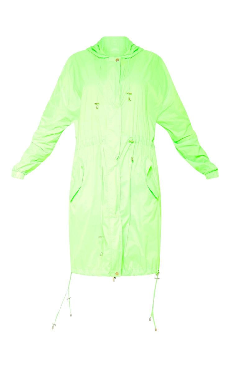 Lime Longline Rainmac  3